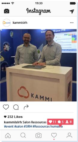 Screenshot d'un post instagram du compte Kammi