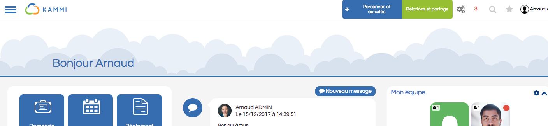 Screenshot de la personnalisation de l'image dans l'accueil du portail