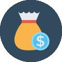 Icone d'une bourse d'argent