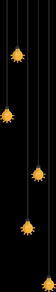 Décorations avec des ampoules suspendues